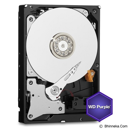 WD Purple 4TB [WD40PURX] - Hdd Internal Sata 3.5 Inch